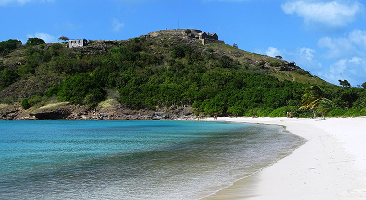 antigua history, caribbean island, points of interest, deep bay beach, fort barrington,