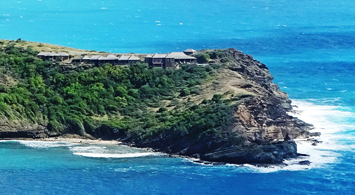 antigua, caribbean island, standfast point, eric clapton house closeup