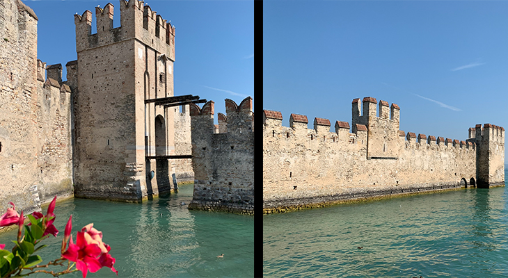scaligero castle, scaliger family palace, della scala family palazzo, lake garda castles, medieval castle, northern italy, castello scaligero, travel to italy, sirmione, lombardy, brescia, italian lakes district,