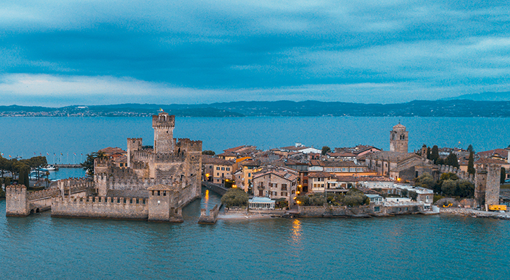 sirmione, scaligero castle, scaliger family, della scala family, lake garda, medieval town, northern italy, castello scaligero, travel to italy, italian lakes district, lombardy, brescia