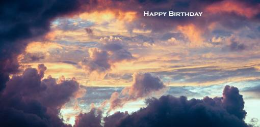 happy birthday wishes, birthday cards, birthday card pictures, famous birthdays, pink clouds, sunset