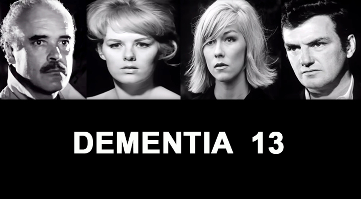 dementia 13, 1963 film, horror movies, thrillers, actors, patrick magee, mary mitchel, luana anders, william campbell, movies made in ireland, irish films,
