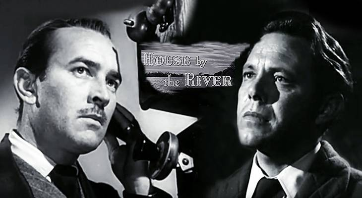 lee bowman, louis hayward, 1950s films, classic movies, house by the river, film noir, american actors, suspense movies,