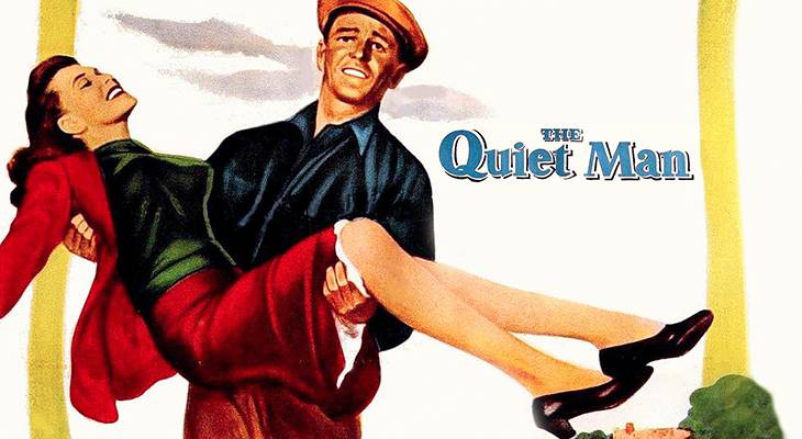 the quiet man, classic movies, 1950s films, american actors, john wayne, irish actresses, maureen ohara, movie posters, movies filmed in ireland, john ford films