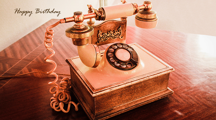 happy birthday wishes, birthday cards, birthday card pictures, famous birthdays, telephone, rotary dial, vintage, pink, old, rose