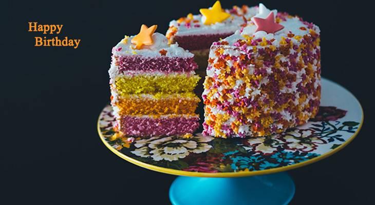 happy birthday wishes, birthday cards, birthday card pictures, famous birthdays, birthday cake, rainbow cake