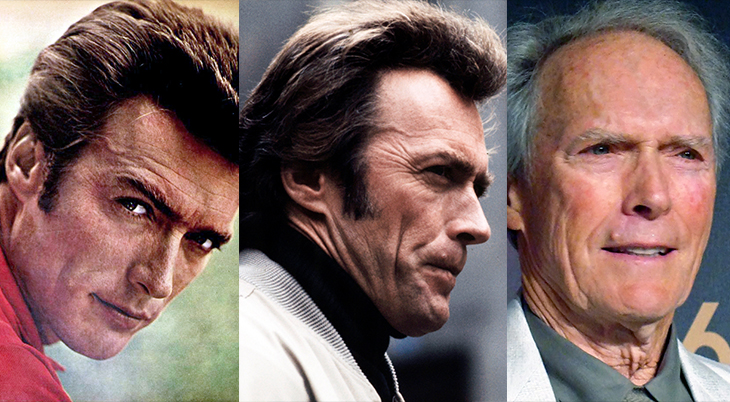clint eastwood, younger, older, american actor, classic tv shows, westerns, rawhide, movies, 1974, the eiger sanction, film director