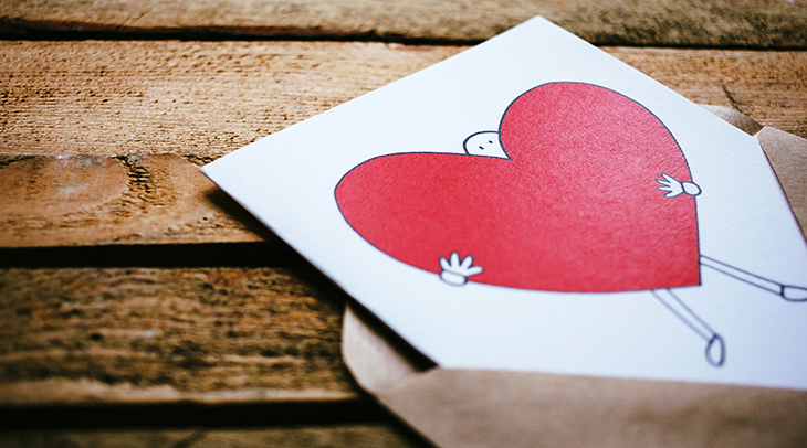 heart card, send love, valentine cards, writing letter, cheering up