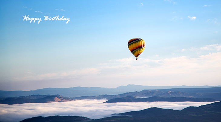 happy birthday wishes, birthday cards, birthday card pictures, famous birthdays, hot air balloon, nature scenery
