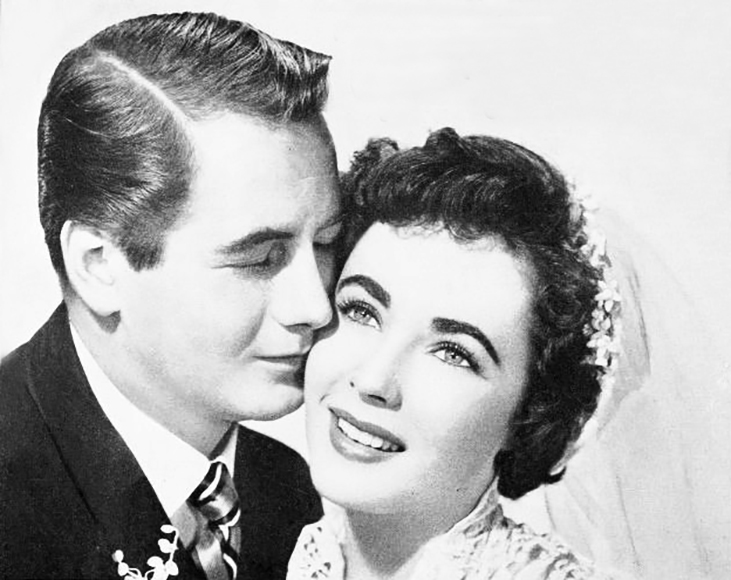 elizabeth taylor, american actress, 1950 movies, father of the bride, may 1950 weddings, celebrity wedding, movie stars, actor, don taylor, kay banks, buckley dunstan