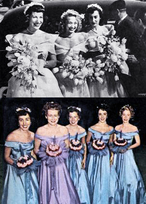 elizabeth taylor, 1950 wedding, bridesmaids, jane powell, 1949 wedding, celebrity friends, american actresses