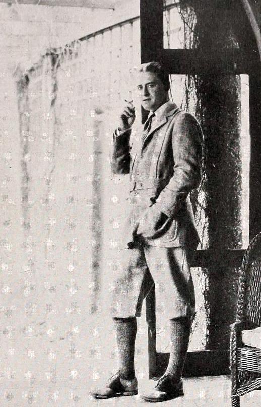 f scott fitzgerald, 1923, american author, jazz age, shadowland, fan magazine,