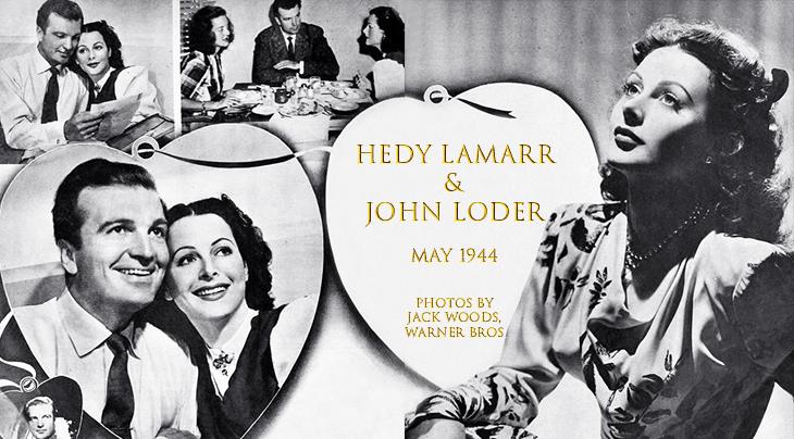 hedy lamarr, john loder, bette davis, 1944, american actors, movie stars, 1940s film stars, celebrity couples