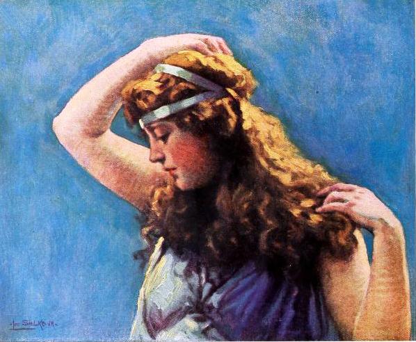 marion davies, 1919, american actress, silent movie stars, silent films, color portrait, artist, leo sielke jr, shadowland, fan magazine, arnold genthe photographer