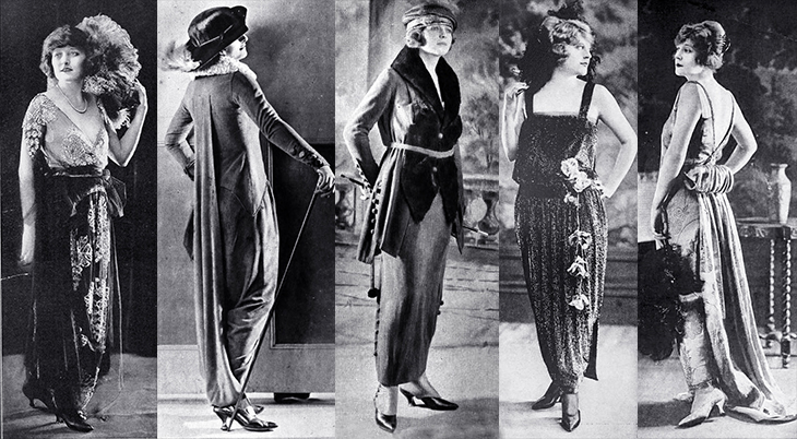 fashion, 1919, shadowland magazine, evening gowns, vintage style, long dresses, bonwit teller and company, lanvin,