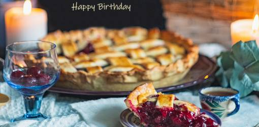 happy birthday wishes, birthday cards, birthday card pictures, famous birthdays, berry pie, dessert, treats, fruit