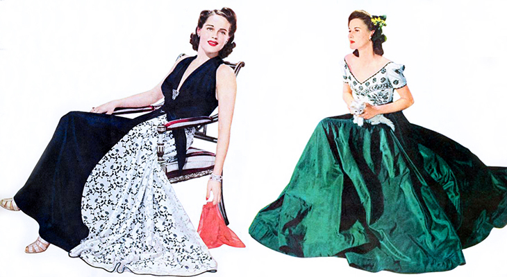 modess, 1941 fashions, advertising, high fashion, gowns, evening dresses, womens products, sanitary napkins, menstruation, feminine hygiene, famous designers, early supermodels