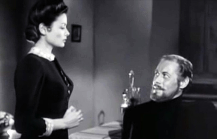 gene tierney, rex harrison, actors, 1940s movie stars, classic movies, 1947 films, the ghost and mrs muir, ghost story, fantasy film