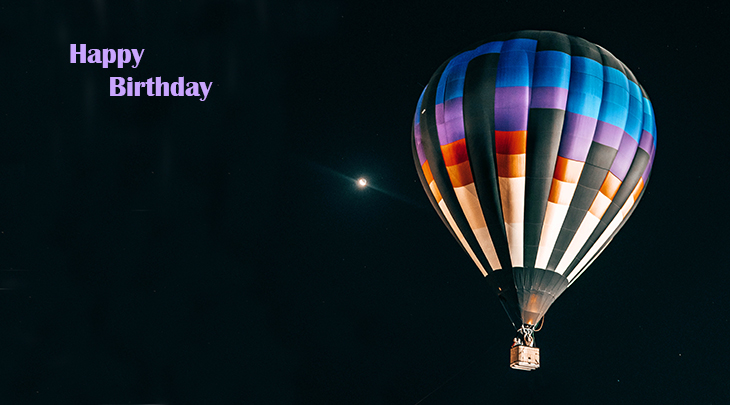 happy birthday wishes, birthday cards, birthday card pictures, famous birthdays, balloons, hot air ballooning, stars, moon