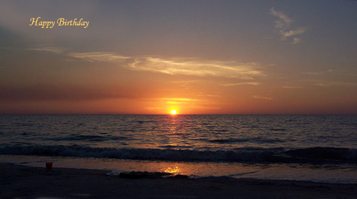 happy birthday wishes, birthday cards, birthday card pictures, sunset, beach, ocean, florida