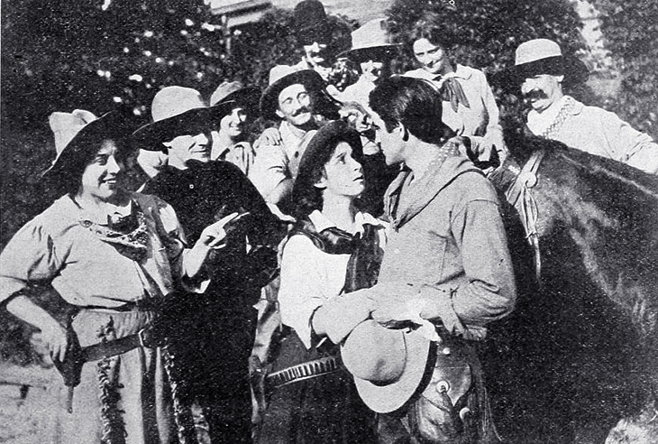 star film ranch, 1910, silent movies, the cowboys and the bachelor girls, star film company, san antonio, texas, actors, francis ford, film stars, actress, edith storey, cinematographer, william daddy paley, gaston melies producer