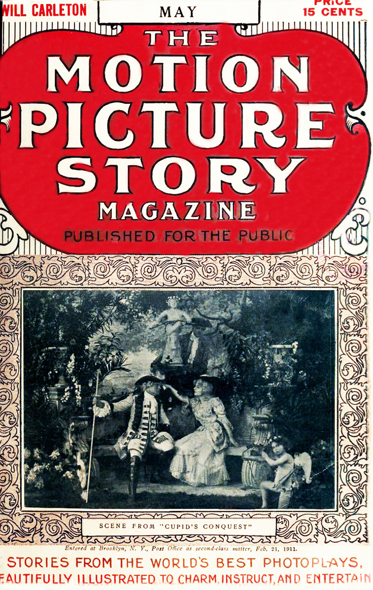 1911, may, the motion picture story magazine, cover, silent film magazine, movie fan magazines,