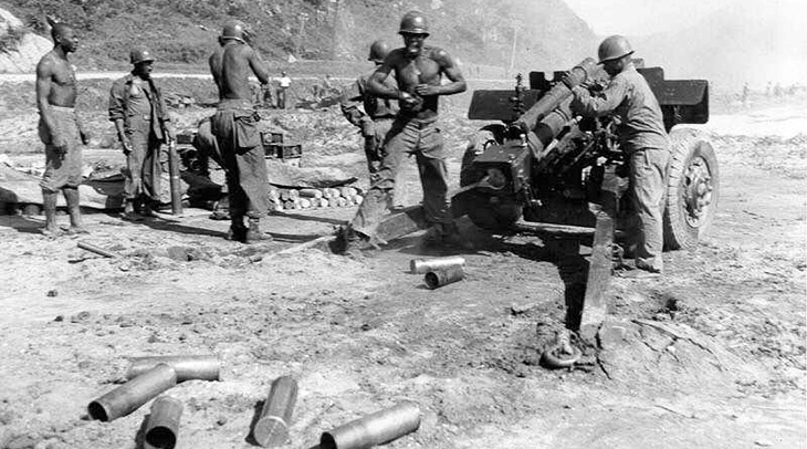 1950, july, battle of sangju, yongdok, south korea, 24th infantry regiment, korean war, us army signal corps, black soldiers, african americans, troops, united states army, asian conflicts,