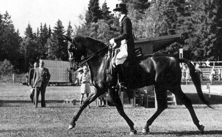 1952 olympics, 1952 helsinki games, summer olympics, helsinki finland, xv olympiad, equestrian events, lis hartel, danish rider, jubilee, silver medal, dressage