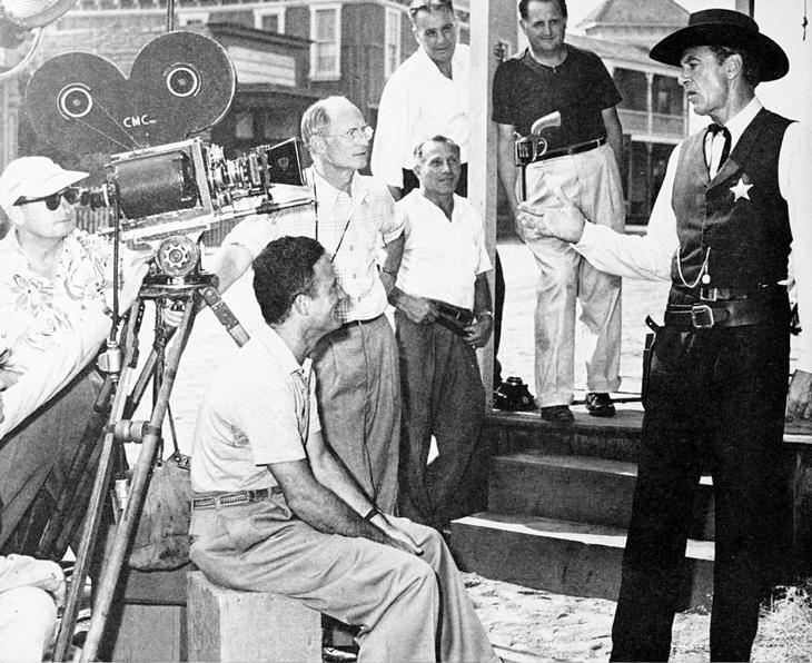 gary cooper, july 1952 films, 1952 westerns, classic movies, high noon, film set, director, fred zinneman, cinematographer, floyd crosby