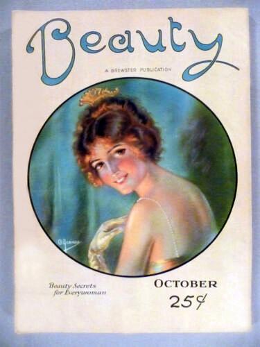 1922, october, beauty magazine, cover, brewster publications, eugene v brewster, american publisher, vintage magazines