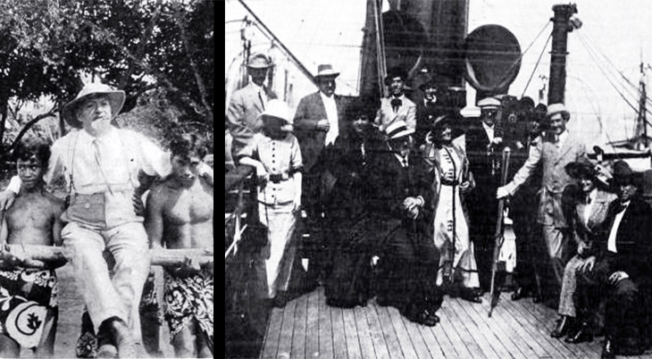 gaston melies, french filmmaker, silent movies, 1912 world tour, tahiti, star film company, film stars, actors, henry stanley, mildred bracken, bertram bracken, fanny midgley, william ehfe,