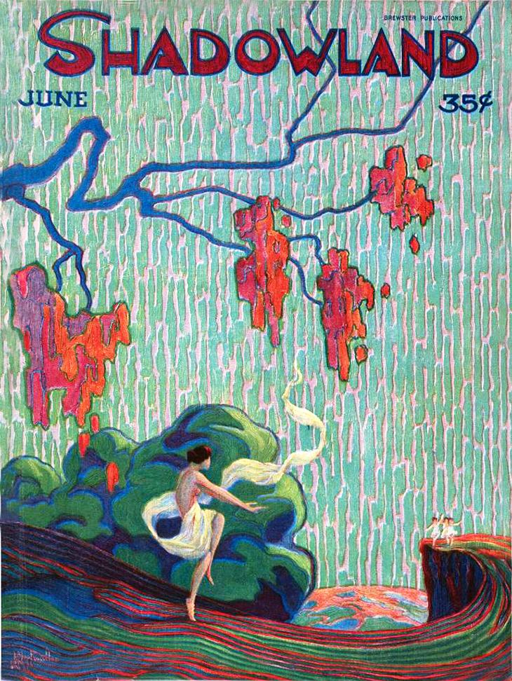 1920, june, shadowland magazine, cover, silent film magazine, movie fan magazines, art deco, paintings, a m hopfmuller, vintage magazine cover
