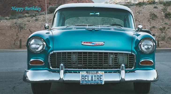 happy birthday wishes, birthday cards, birthday card pictures, famous birthdays, vintage, old, blue, car, automobile,
