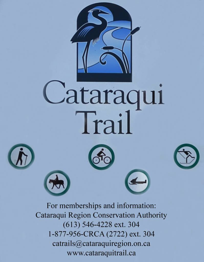 cataraqui trail, usage sign, bicycle, trail cycling, walk, hike, hiking, tour, eastern ontario,