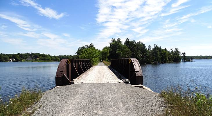 cataraqui trail, bicycle, trail cycling, walk, hike, hiking, tour, eastern ontario, explore, adventure, nature, scenery, sydenham, bridge, lake
