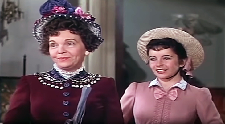 august 1947, classic movies, historical comedy, color films, life with father, actresses, movie stars, zasu pitts, elizabeth taylor