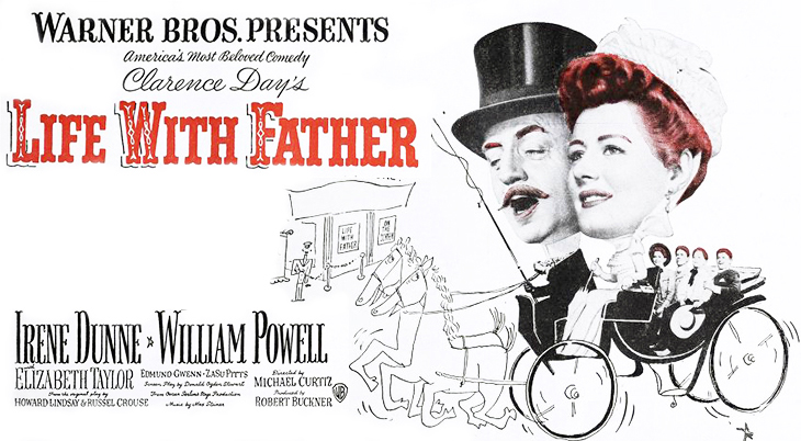 august 1947, movie premieres, classic films, historical comedy, life with father, william powell movies, irene dunne films,