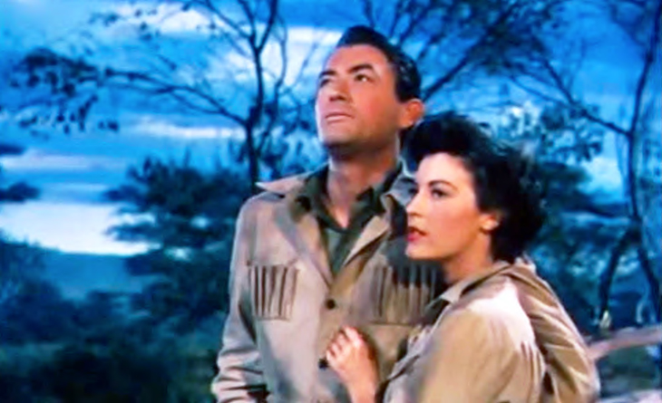 1952 movies, classic films, the snows of kilimanjaro, hemingway movies, film stars, actors, gregory peck, ava gardner, technicolor, romantic movies, films set in africa