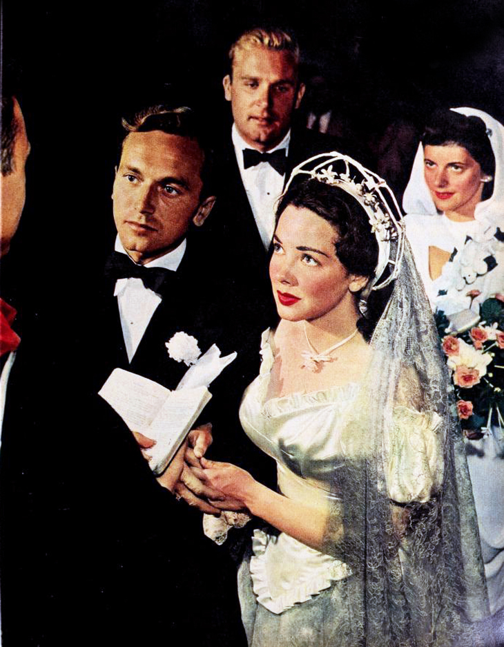 johnnie johnston, kathryn grayson, august 1947, celebrity wedding, movie stars, american actor, actress, singers
