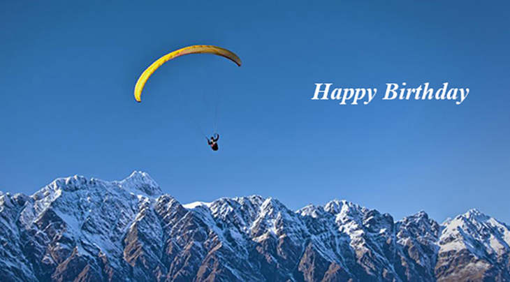 happy birthday wishes, birthday cards, birthday card pictures, famous birthdays, balloon, paraglide, paragliding, parasailing, mountains, parachute, adventure
