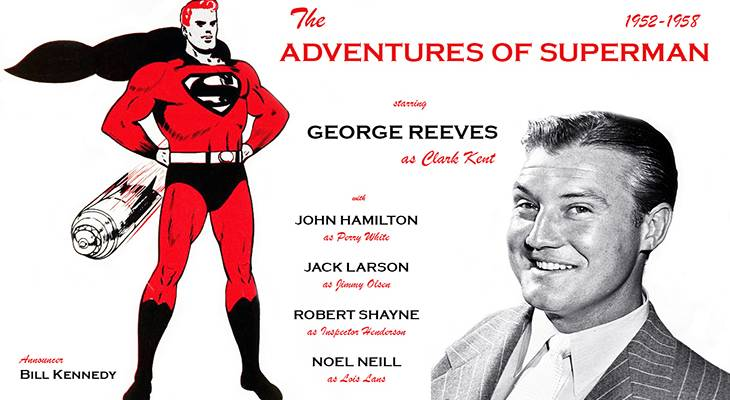 1952, tv shows, the adventures of superman, american actor, george reeves, clark kent,