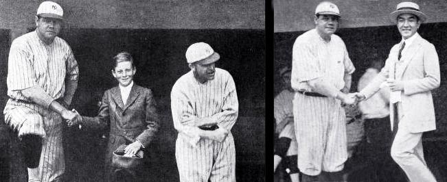 babe ruth, american athlete, professional baseball player, new york yankees, yankee stadium, wesley barry, silent film actor, silent movie star, 1920, sessue hayakawa