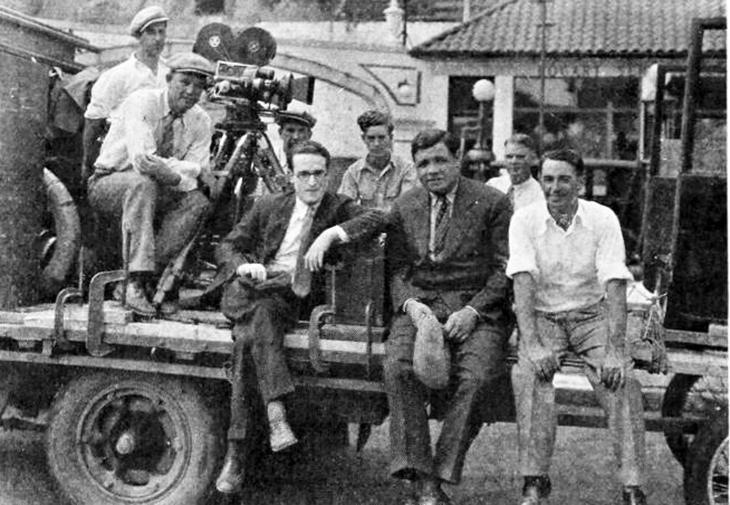 babe ruth, 1927, american baseball player, silent films, movie stars, harold lloyd, speedy movie