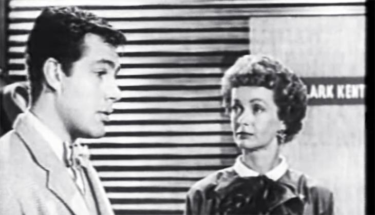 jack larsen, american actor, noel neill, actress, 1950s tv shows, 1954, the adventures of superman, jimmy olsen, lois lane, classic tv series,
