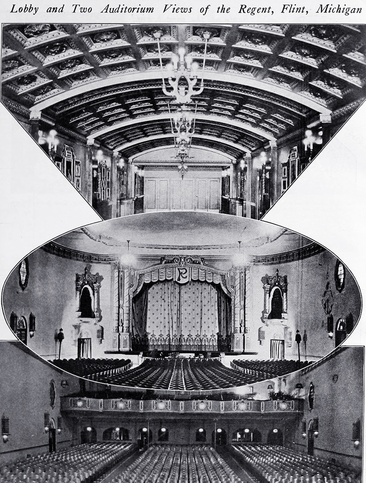 regent theatre, 1920, flint, michigan, silent picture house, silent movie theatre, theatre manager, actor, butterfield theatres