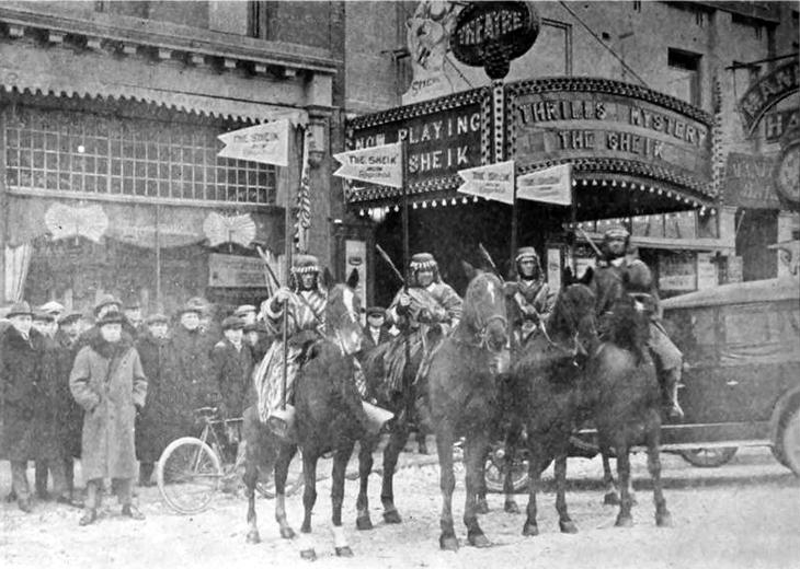 jack prescott, 1921, capitol theatre, winnipeg, silent movies, the sheik, silent film theatres, manager