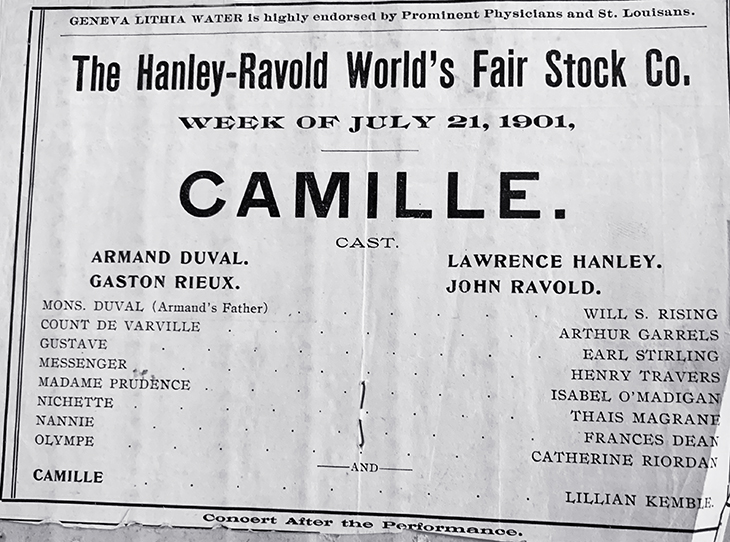 thais magrane, american actress, 1901, stage plays, camille, st louis, worlds fair, lawrence hanley, john ravold, lillian kemble,