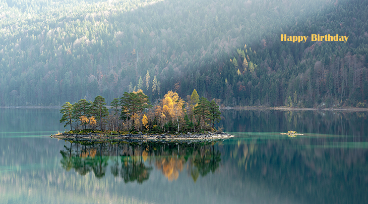 happy birthday wishes, birthday cards, birthday card pictures, famous birthdays, autumn, fall colors, yellow, lake, reflectiontree, forest, nature, scenery