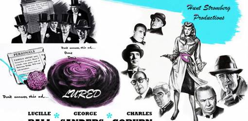 1947 movies, classic films, film noir, lured, american actress, lucille ball, actors, george sanders, cedrick hardwicke, charles coburn, george zucco, boris karloff,