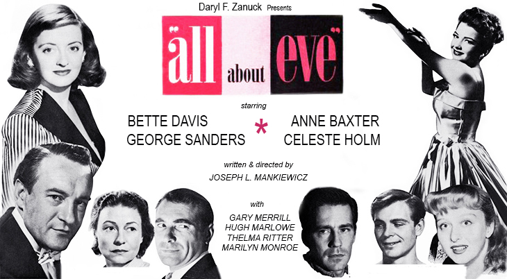 all about eve, 1950 movies, classic films, actors, movie stars, bette davis, anne baxter, george sanders, thelma ritter, gary merrill, hugh marlowe, gregory ratoff, celeste holm, daryl f zanuck, joseph l mankiewicz, director, producer